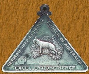 Excellent Obedience Medal